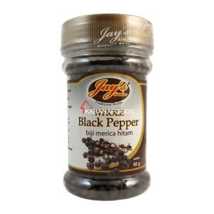 Bumbu Masak Biji Merica Hitam Jay's Whole Black Pepper 60g