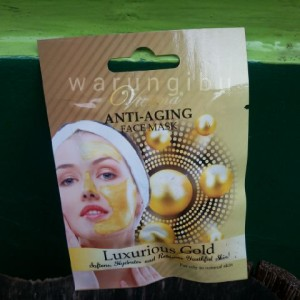 Vienna Anti Aging Face Mask Luxurious Gold / Masker Perawatan Wajah
