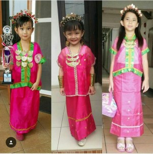 Jual Baju Bodo Pakaian Adat Bodho Anak Perempuan Tk Sd