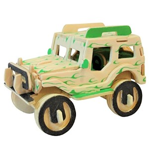 Mainan Edukatif 3d Wooden Puzzle Woodcraft Contruction Kits -JEEP MINI