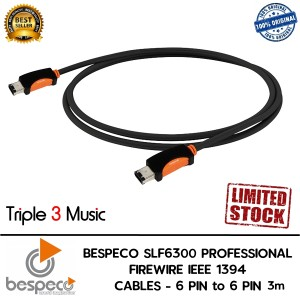Bespeco SLF6300 Kabel Firewire 6 pin to 6 pin 3m audio QUALITY