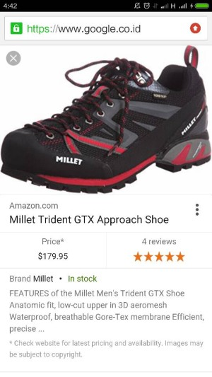 Jual sepatu millet trident gtx approach - jorjoran adventure  2aba66e9e8