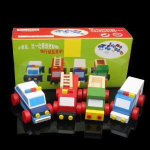 ME074 Puzzle Kayu 3 Dimensi 3 Dimension Wooden Jigsaw Set 4 Mobil