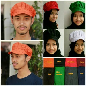 Topi Chef Topi Worker Topi Waiter model #2