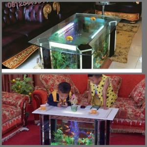 furniture aquarium. Meja Tamu Unik Mewah Furniture Ruang Ala Aquarium