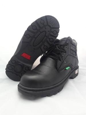 Safety boot kulit asli - Boy Keen Full Black