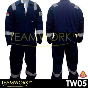 TW05 TeamWork Coverall Anti Api Wearpack Baju Kerja Safety Termurah