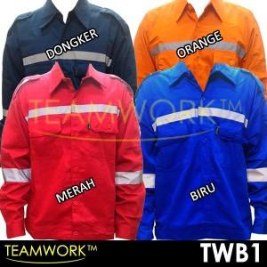 TWB1 TeamWork Atasan Tangan Panjang Baju Kerja Safety Wearpack