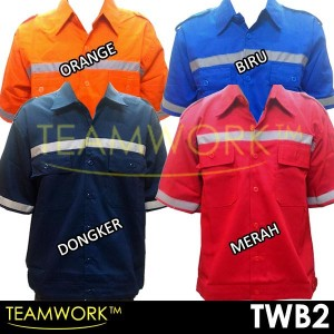 TWB2 TeamWork Atasan Tangan Pendek Baju Kerja Safety Wearpack Termurah