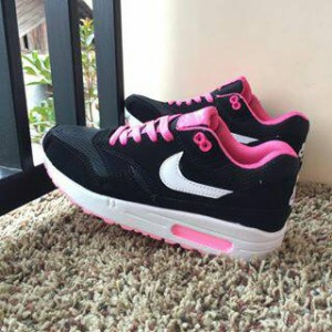 KEREN!! sepatu nike air max woman cewek hitam putih pink vietnam