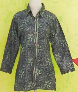 Blouse Batik Lengan Panjang C0124