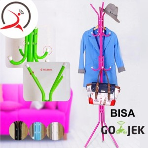 [Promo] Neo Multifunction Hanger Stand Gantungan Baju (Tali Jemuran&#