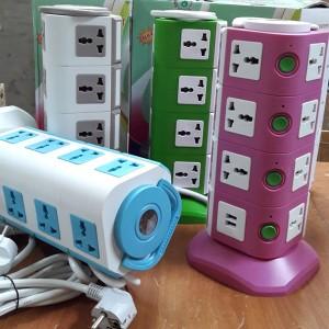 Colokan Listrik 4 Tingkat dan USB / Colokan Multifungsi