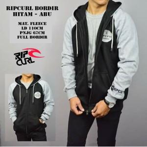 Jaket Ripcurl Bordir Logo Hitam Abu Sweater Pria Wanita Grosir Murah
