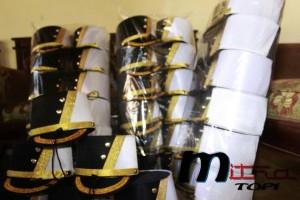Topi drumband pasukan black white
