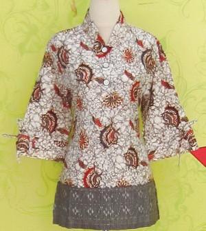 Blouse Batik C0149 Abu-abu