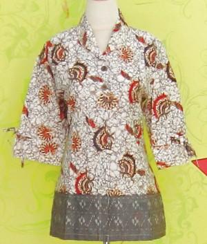 Blouse Batik C0154 Abu-abu