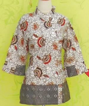 Blouse Batik C0161 Abu-abu