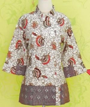 Blouse Batik C0157 Coklat