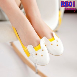 Flat Shoes Bunny Rabbit Murah (RB01 Kuning)