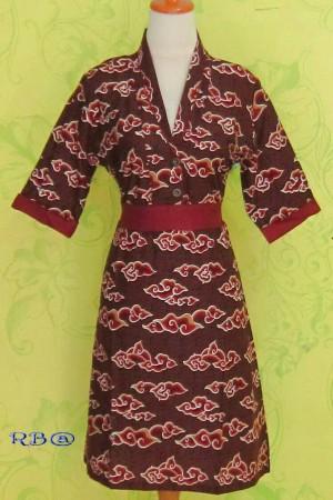 Dress Batik SANIA MEGA MENDUNG, katun halus ^^