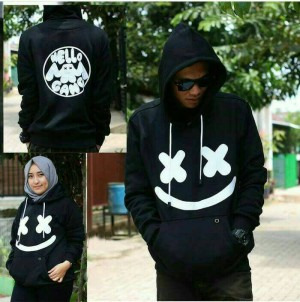 Jaket Sweater Marshmellow Black
