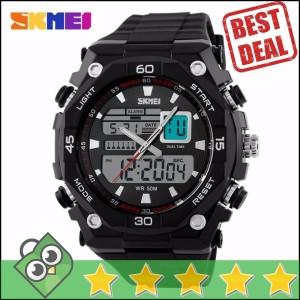 Jam Tangan Pria Dual Time SKMEI Casio Men Sport LED Original AD1092
