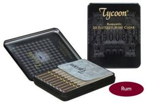 Tycoon Mini Cigarillos Rhum (Tin-20) - Cerutu Kecil Aroma Rum