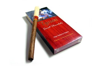 Tycoon Wood Tipped Cigars Chocolate (Pack-5) - Cerutu Aroma Cokelat
