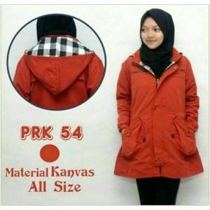 jaket parka ladies merah bata