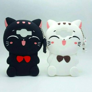Case Samsung Galaxy J3 SM-J300 Softcase Casing Cover Silikon 3D Kucing