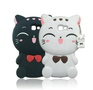 Case Samsung Galaxy J7 Prime / Softcase Casing Cover Silikon 3D Kucing