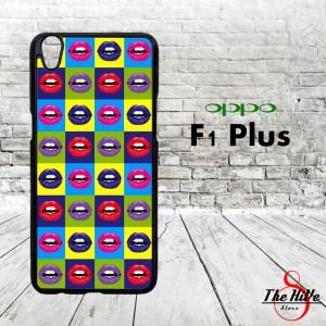 Popart Lips 0037 Casing for Oppo F1 Plus   R9 Hardcase 2D