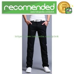 Celana Chinos Panjang Pria Size 29 - Black