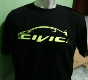 Tshirt/kaos/baju HONDA CIVIC BLACK