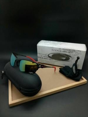 kacamata pria polarized OAKLEY HALF X ( hitam merah )
