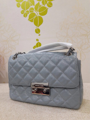 Tas Michael Kors Mk Sloan Quilted Dusty Blue Original