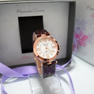 Jam Tangan Alexandre Christie Ac 2588 Original Ladies Coklat Rosegold
