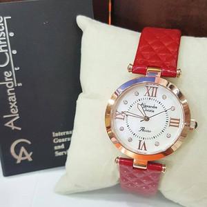 Jam Tangan Alexandre Christie Ac 2588 Original Merah Roaegold