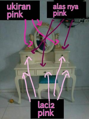 meja rias + sofa box ( pesanan costume )