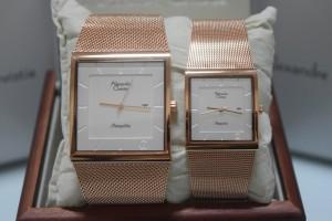 Alexandre Christie AC 8333 Rose Gold Plat White Couple Edition Origina