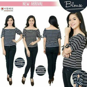 OZ SHERINA BLOUSE 54.000 Bahan Twiscone Fit To L