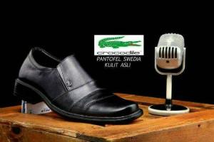Sepatu pantofel pria Crocodile Swedia kulit mewah pesta kerja kantor