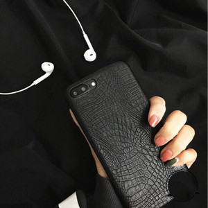 iPhone Case/Casing Leather Croco Parkie Black iphone 5/6/7