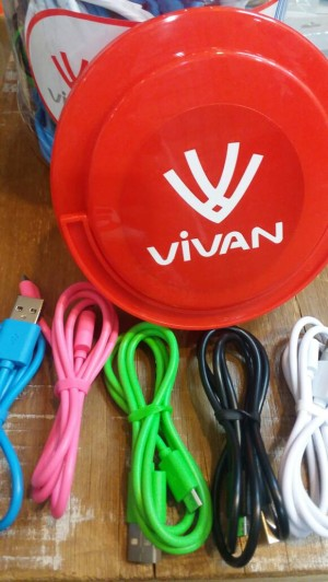 KABEL VIVAN CBM80 /KABEL POWERBANK / CABLE MICRO USB SAMSUNG ANDROID