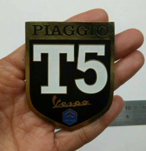 Vintage Vespa Piaggo T5 Badge Emblem Vespa Scotter Logo Chung
