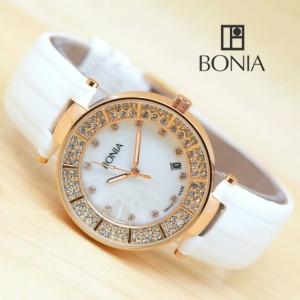 Jam Tangan Wanita Bonia Circle Diamond Kulit