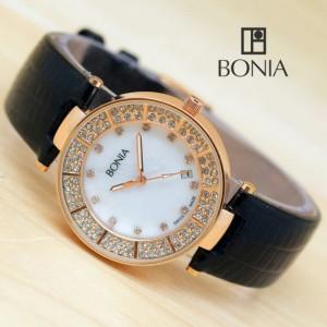 Jual Jam Tangan Wanita Bonia Circle Diamond Kulit