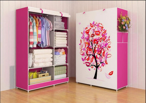 03 TREE Multifunction Wardrobe / Cloth Rack with cover lemari pakaian