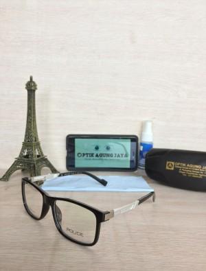 (Frame+Lensa) Frame Kacamata POLICE BLACK 100% HIGH QUA Murah